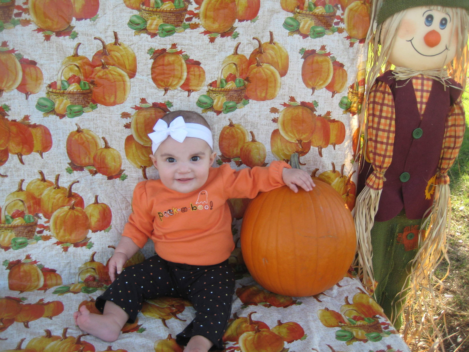 Posing pretty at the USAA harvest festival...