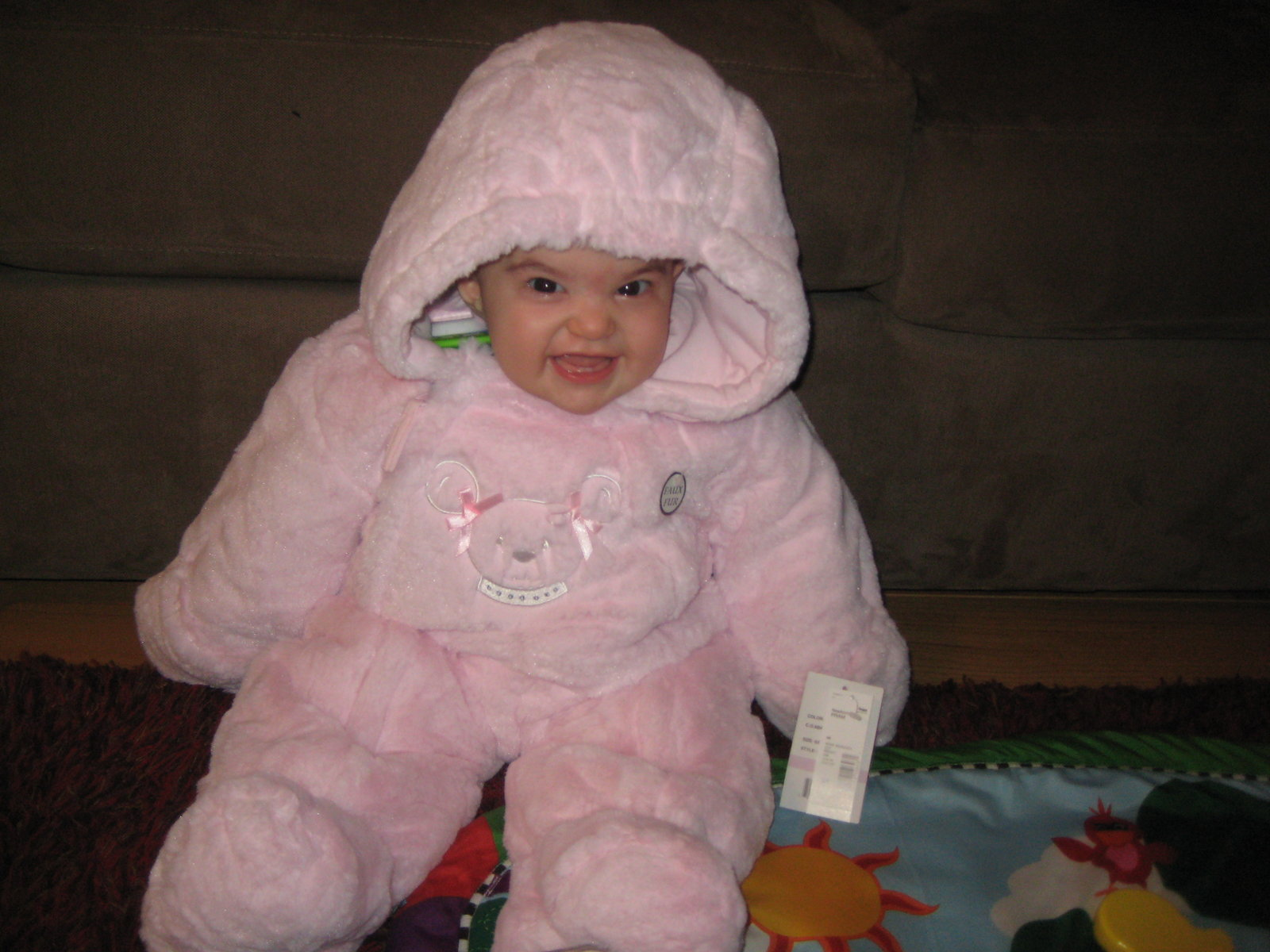 My cute snow suit Mom-Mom bought me..