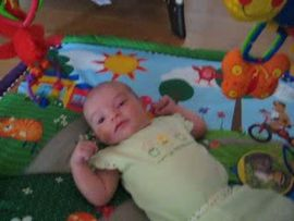 Sofia on her activity mat...